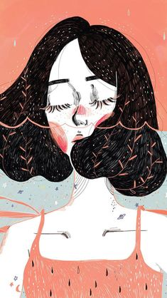 Ideas For Hair Short Girl Drawing Illustration Art Inspo, Kunst Inspo, Art And Illustration, Illustrations, Pretty Art, Cute Art, Drawing Sketches, Art Drawings, Drawing Art
