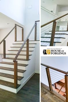Stair and Railing Products Stainless Steel Cable Railing, Parts Of Stairs, Iron Balusters, Staircase Remodel, Modern Stairs, Stair Railing, Home Builders, Wrought Iron, Remodeling