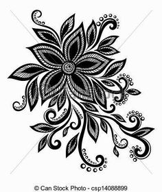 beautiful black and white flower with imitation lace eyelets design element Many similarities in the Stock Vector Flower Tattoo Foot, Foot Tattoos, Flower Tattoos, Tatoos, Mandala Design, Lace Flowers, White Flowers, Wedding Flowers, Zentangle