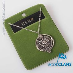 Kerr Can Crest Pendant. worldwide shipping available