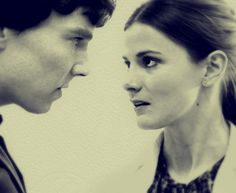 benedict cumberbatch and louise brealey as Sherlock and Molly