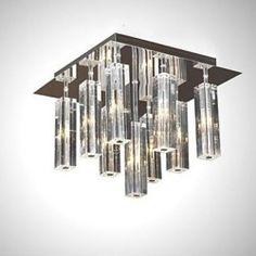 Max 10W Modern/Contemporary Crystal Chrome Metal Flush Mount