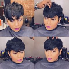 Today we have the most stylish 86 Cute Short Pixie Haircuts. We claim that you have never seen such elegant and eye-catching short hairstyles before. Pixie haircut, of course, offers a lot of options for the hair of the ladies'… Continue Reading → Short Straight Hair, Short Hair Styles Easy, Short Hair Cuts, Curly Hair Styles, Natural Hair Styles, Pixie Styles, Straight Weave, Thin Hair, Short Weave Hairstyles