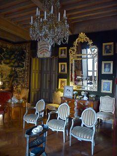 Le Bosc , château d'enfance de Toulouse Lautrec , Aveyron   Le petit salon