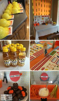 Construction Theme Birthday Party, great little boys birthday party with perfect themed party food! www.handmadeintheheartland.com