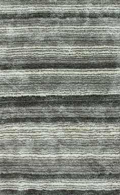 Rugs USA Keno Striped Shaggy Grey Multi Rug