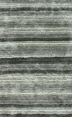 Rugs USA Keno Striped Shaggy Grey Multi Rug