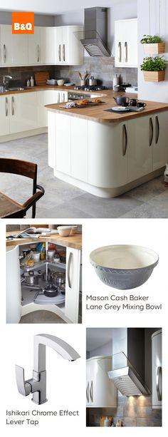 36 best cream gloss kitchens images modern kitchens new kitchen rh pinterest com