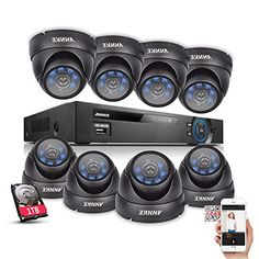 [New technology Nano]Annke 1TB Hard Dive 8CH CCTV DVR Recorder W/ 8x900TVL Day/Night Vision Camera Outdoor Weatherproof Security Cameras System