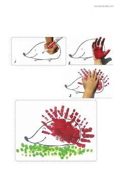 handprint hedgehog
