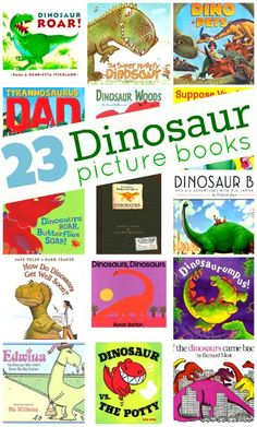 Dinosaur Picture Books MUST check this out. Long list of dinosaur books for kidsMUST check this out. Long list of dinosaur books for kids Dinosaur Books For Kids, Dinosaurs Preschool, Preschool Books, Preschool Lessons, Preschool Classroom, Childrens Books, Classroom Ideas, Rhyming Activities, Dinosaur Activities