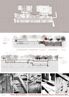Paseo Gastronómico y Centro Cultural General Holley, RM Metropolitana, Chile Architecture 101, Architecture Graphics, Architecture Drawings, Cultural Architecture, Classical Architecture, Architecture Presentation Board, Presentation Layout, Presentation Boards, Architectural Presentation