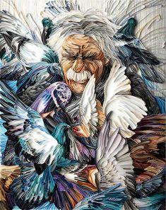 Quilled portrait by Yulia Brodskaya
