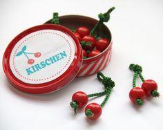 DIY Kaufladen Kirschen Obst mit kostenloser Vorlage