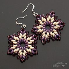7 petal beaded flower with super duo beads - Google Search