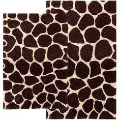 Complete Bath Accessory Set PURPLE Zebra Printed Bathroom Rugs - Printed bathroom rugs for bathroom decorating ideas