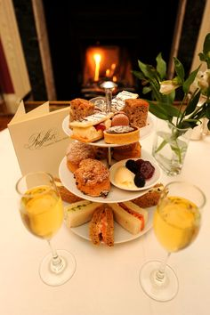 Afternoon tea by the fire at Rufflets Country House Hotel, St Andrews