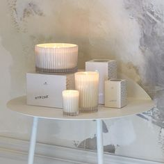 The Celebration candle collection  http://www.ecoya.com/