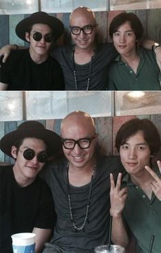 Actor Kim Woo Bin and Entertainer Hong Seok Cheon Show Their Loyalty In Recent Photos