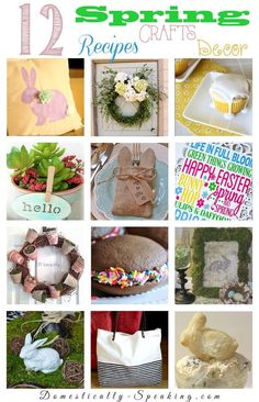 12 Great Spring Recipes, Crafts and Decor Ideas - Domestically Speaking