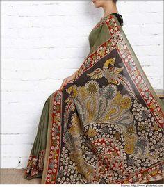 Kalamkari- A Dyeing Art! | Kalamkari Saress, Designs, Printings