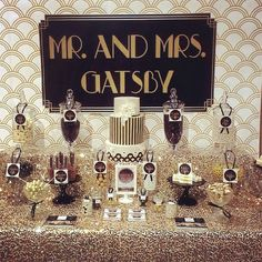 This would be cute for the shower with just mrs. Gatsby!