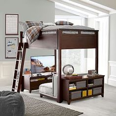 Best Loft Bed Frames Hampton Convertible Loft Bed Pbteen Ideas Na Ry In Loft Bed Frame Ideas Bedroom Loft, Dream Bedroom, Girls Bedroom, Bedroom Decor, Bedroom Ideas, Boys Bedroom Furniture, Boys Loft Beds, Bunk Beds, Murphy-bett Ikea