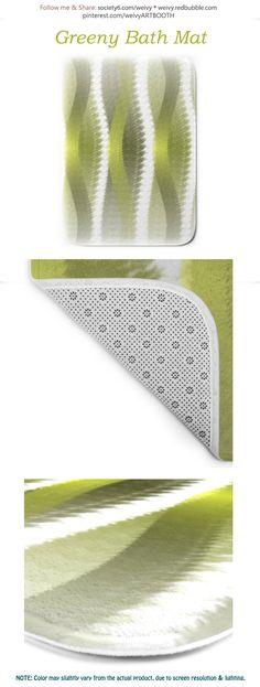 Greeny Bath Mat by weivy Face Towel, Presents For Friends, Green Nature, Wooden Shelves, Hand Towels, Bath Mat, Duvet, Curvy, Stripes