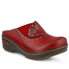 L'Artiste by Spring Step Chino Women's Clogs, Size: 37, Red