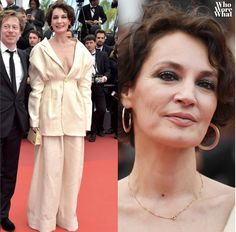 Jeanne Balibar in the 2017 Cannes Festival - Make up by Kathy Le Sant
