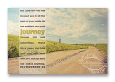 """Christian Wall & Desk Art - Vintage Photography Field Road """"Journey"""" with Bible Scripture by anytimeart, Road, Sky, Green, Blue Photography Gifts, Vintage Photography, Christian Art Gifts, Wall Desk, Bible Scriptures, Wilderness, Journey, Sky, Green"""