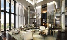 So glamorous! #moderndesign #interiordesign #livingroomdesign luxury homes, modern interior design, interior design inspiration . Visit www.memoir.pt