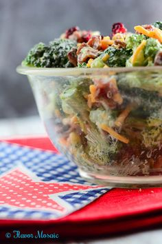 Broccoli Salad #Sunday Supper - Flavor Mosaic Dressing is very good! Didn't have…