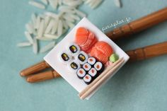 Miniature Sushi Pendant on some Real Chopsticks | Flickr - Photo Sharing!