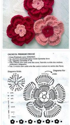 This Pin was discovered by Dar Crochet Quilt, Crochet Mandala, Crochet Chart, Crochet Motif, Crochet Doilies, Crochet Flower Tutorial, Crochet Flower Patterns, Crochet Stitches Patterns, Crochet Designs
