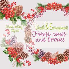 Watercolor clipart Winter holiday clipart от WatercolorSeasons
