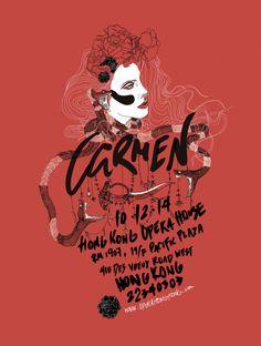 Carmen: Opera Poster by Jeff Schaap, via Behance #Bizet #Carmen #Opera
