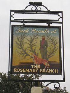 Jack Beard's at The Rosemary Branch -  Rosemary Branch Pub Sign  44 Lewisham Way, London, SE14 -Luke Agbaimoni MORE DETAILS: www.lastrounds.co.uk/component/option,com_bookmarks/Itemi...
