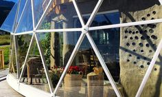 Geodesic Artic dome with a cob house inside                    I love this 2 in one house, a geodesic dome with a cob house inside, and th...