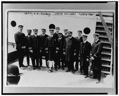 "Capt. A.H. Rostron and under officers of ""Carpathia"""
