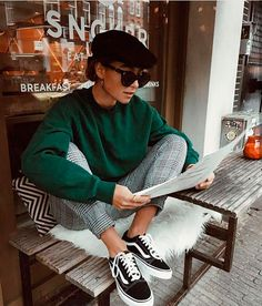 20 Edgy Fall Street Style 2018 Copy Outfits - Cool S .- 20 Edgy Fall Street Style 2018 Outfits zum Kopieren – Cool Style 20 Edgy Fall Street Style 2018 Outfits for Copy - Autumn Fashion Casual, Fall Fashion Trends, Casual Fall, Indie Fashion Winter, Fashion Bloggers, Fashion Ideas, Fashion Images, Fall Fashion 2018, Fashion Styles