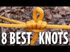 8 KNOTS You Need to Know - How to tie knots that you will actually use. - YouTube