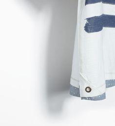 ZARA - ENFANTS - Polo motif chemise