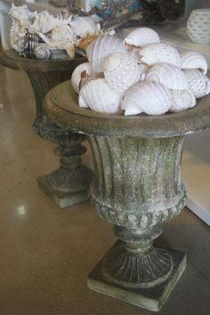 Seashell urns ///////////  my favorite