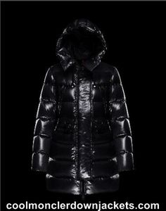 Womens Moncler Aphri Long Down Jackets Black Usa