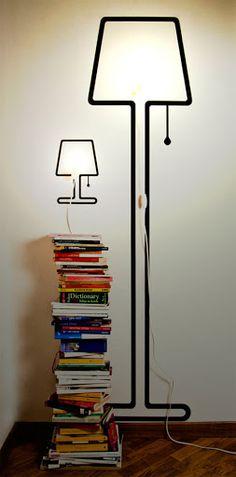 264 besten towerlamp bilder auf pinterest lampenschirme - Ubergang wand decke acryl ...