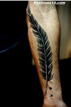 Quill wrist tattoo