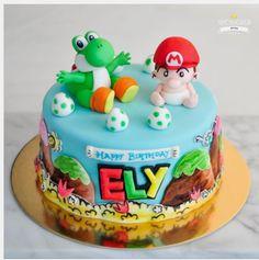Video Game Cakes, Birthday Cake, Desserts, Food, Tailgate Desserts, Deserts, Birthday Cakes, Essen, Postres
