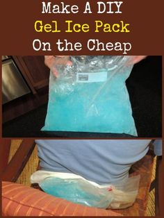 Have you priced gel ice packs lately?  They run $10 to $15 each and as you know, one is not enough.  You need to have a backup pack to use while a melted pack is rejuvenating itself in the freezer.  You can make one yourself in just a few minutes for about $2 each.  Make A Gel Ice Pack On the Cheap   Backdoor Survival