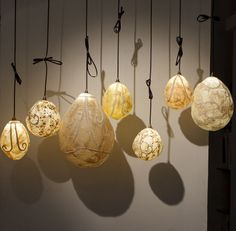 from my exhibition: paper hanging lights. see more: www.facebook.com/papermache.revital